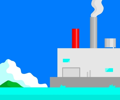 Sea and factory