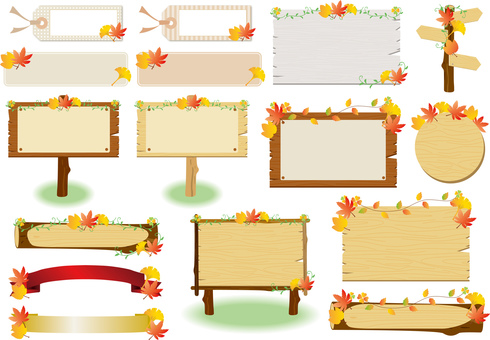 Autumn leaves _ bulletin board _ gathering