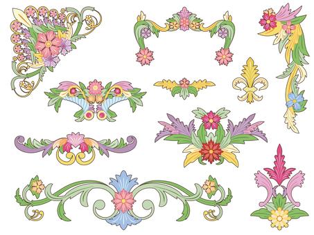 Flower frame set (color)