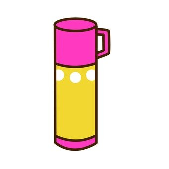 Water bottle (pink & yellow)
