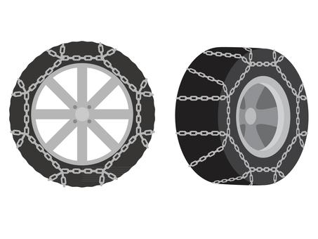 Chain tire