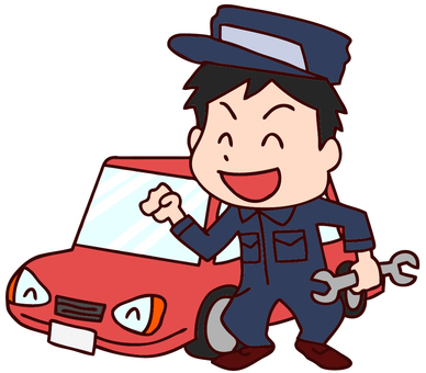 Car mechanic illustration