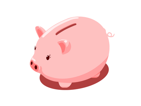 Pigs piggy bank (with shadow)