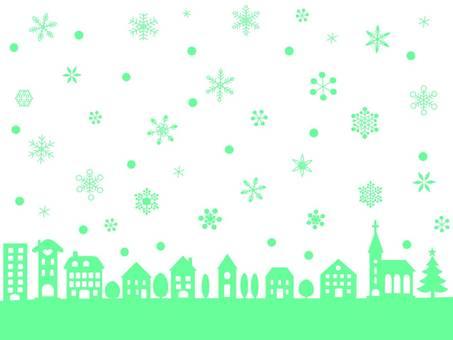 Snow scenery (Street) 2