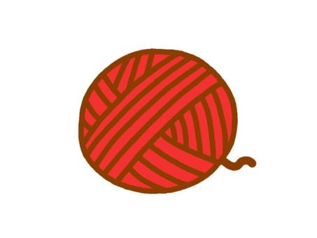 Wool balls red