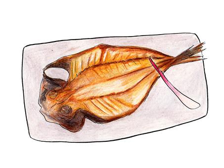 Opening of Aji (grilled fish)