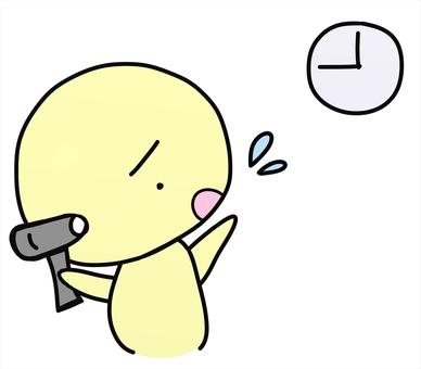 寝坊して「遅刻しちゃう!」と焦っている人