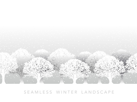 Seamless snow scene