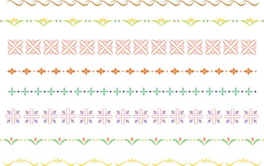 Simple decorative border color