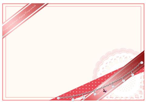 Card frame pink