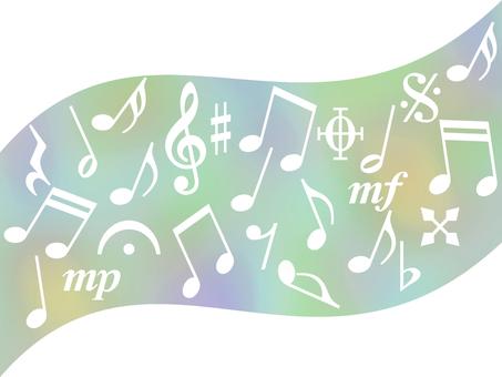 음악 기호의 사진 음표 배경 소재 일러스트