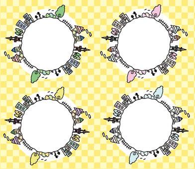 Town circle × 4