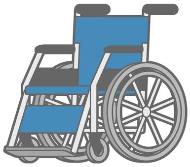 휠체어 - 파랑