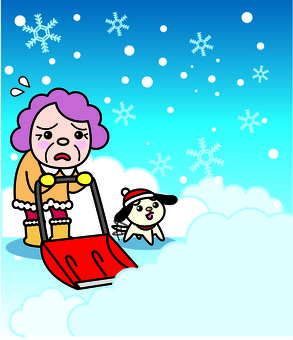 Snow removal of the elderly