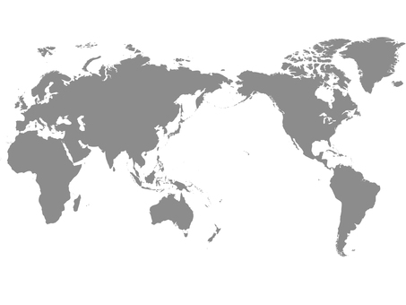 世界地図_シルエット3
