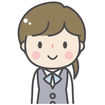 Cute female office worker OL