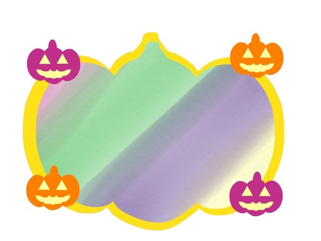 Halloween card neon color