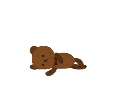 Tired teddy bear