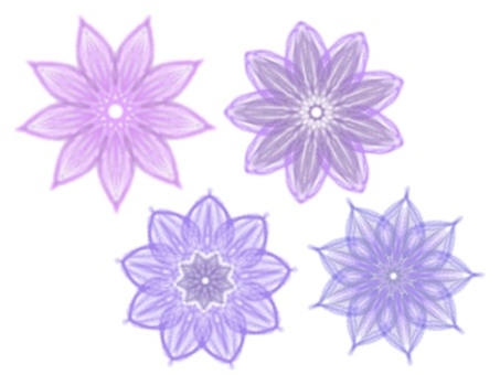 Colored pencil drawing flowers (purple)