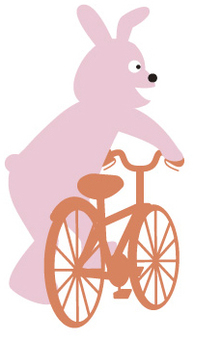 Rabbit and bicycle