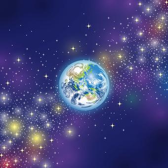 銀河に浮かぶ地球