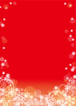 Snow crystal background (red)
