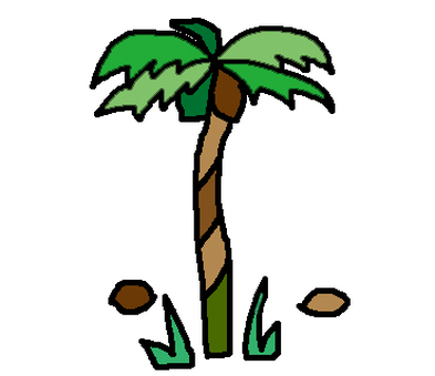 Tropical plant of palm tree and palm only