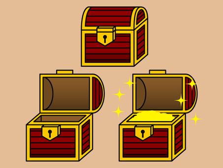 Simple treasure box (opening and closing)