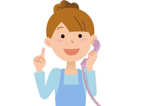 60531. Female apron, telephone