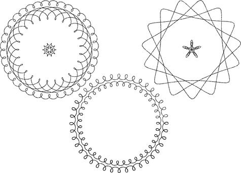 Spirographic frame