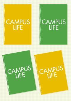 Campus note illustration