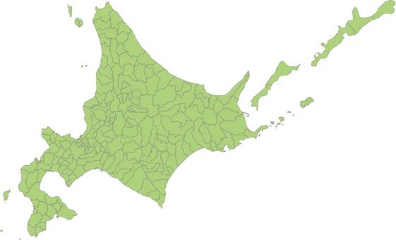Hokkaido administrative area illustration