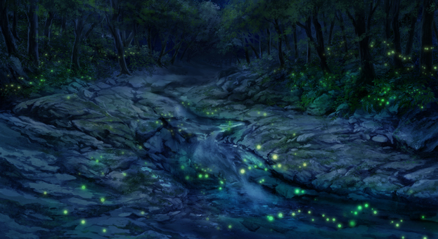 Ogawa in the forest (night)