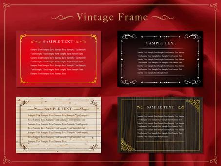 Vintage style decorative frame 03