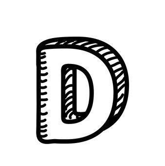 D (upper case)
