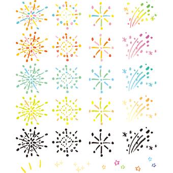 Crayon fireworks parts