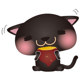 Black Neko Grilled Potato