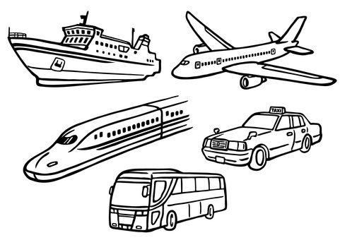 Hand drawn _ vehicles set