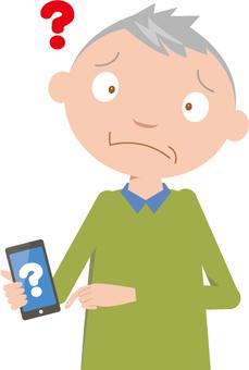 Senior and smartphone