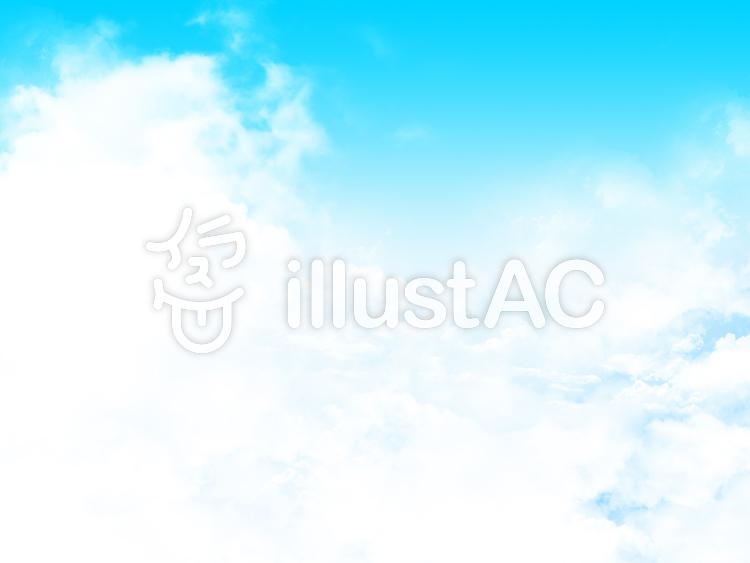 【フリーイラスト素材】雲と大空・3