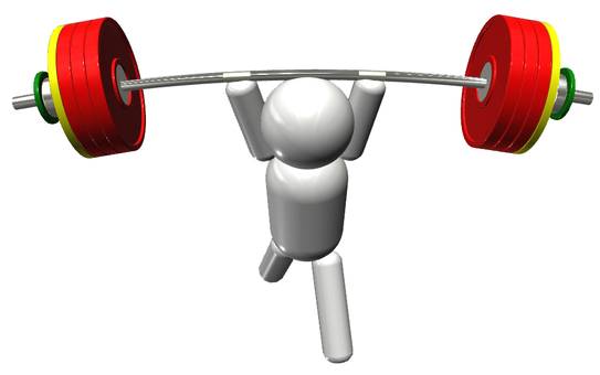 Weightlifting person