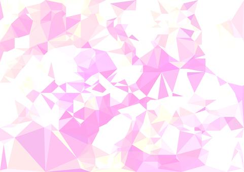 薄ピンクのポリゴンベクター背景素材