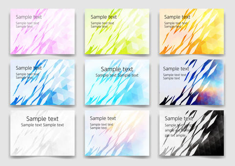 Colorful geometry frame background material margin set