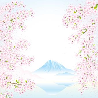 벚꽃과 후지산