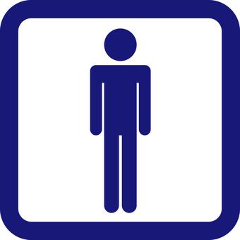 Blue pictogram
