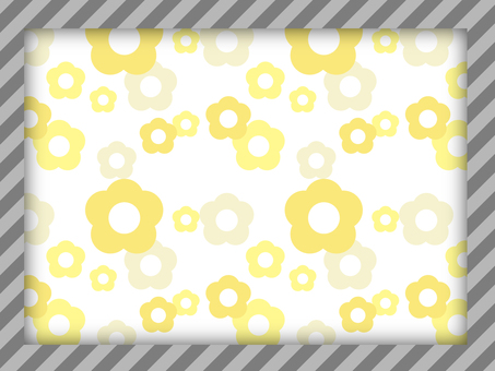 Background gray frame × Yellow flower