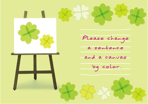 Easel message card clover