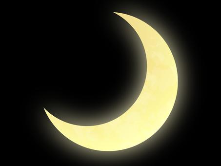 Real crescent moon