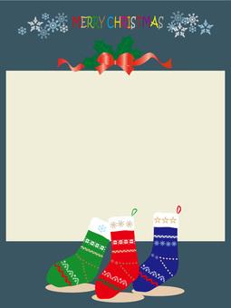 圣诞节袜子背景2