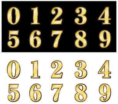 Gold Numerals